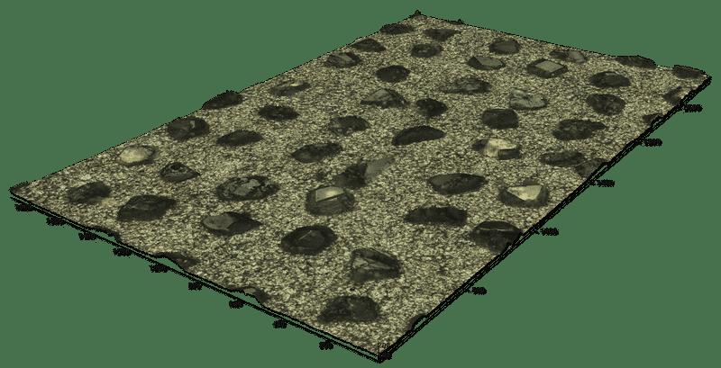 Diamond disk stitched 3d