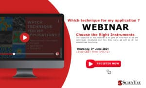 Webinar Which technique for my application ?
